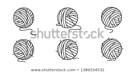 Cat Hand Toy Ball Yarn Stock photo © lenm