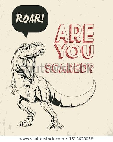 Rabisco animal dinossauro ilustração natureza fundo Foto stock © colematt