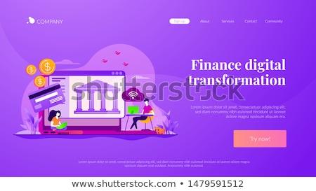 Open banking platform concept landing page. Stock photo © RAStudio