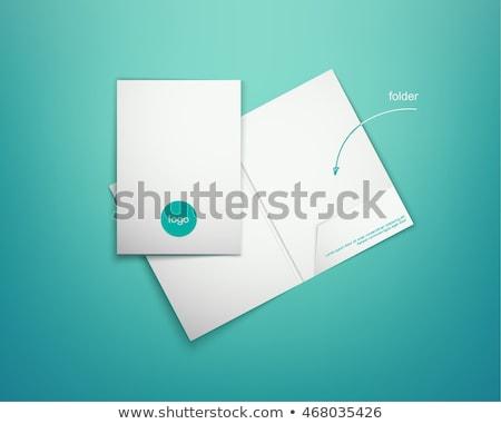 Set of cardboard file folders, vector illustration. stock photo © kup1984