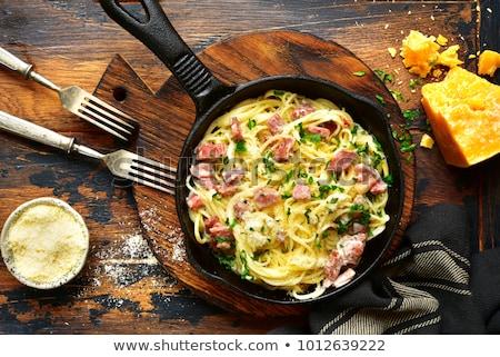 сливочный · традиционный · итальянский · спагетти · пасты - Сток-фото © grafvision