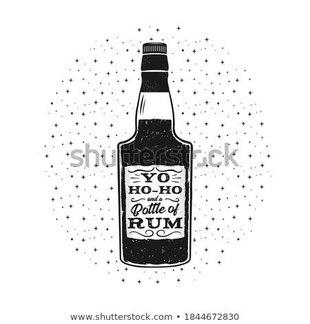 Leuk rum poster fles citaat Stockfoto © JeksonGraphics