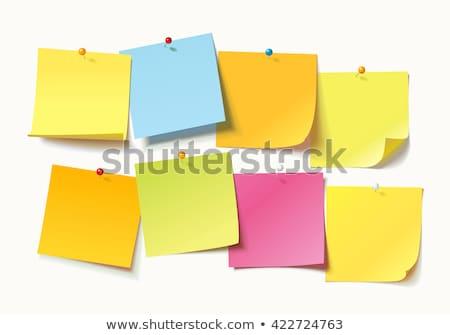 Karteczkę tekst ważny działalności biuro Uwaga Zdjęcia stock © Zerbor