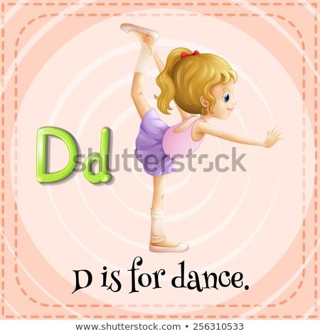 A letter D for dancers Stock photo © colematt