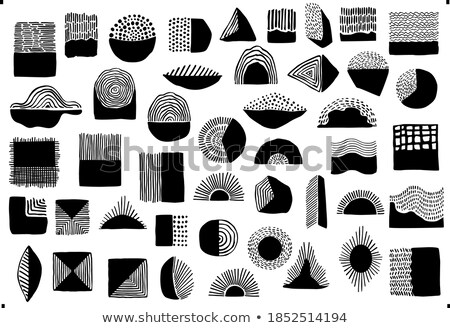 vector black 50 SCRIBBLES objects set Stock photo © VetraKori