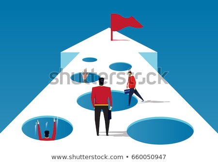 Man trapped in cave Stock photo © bluering