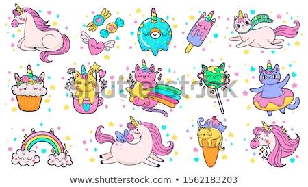 Set of fairytale badge Stock photo © colematt