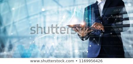Estrategia de negocios texto azul digital mapa del mundo Foto stock © Mazirama