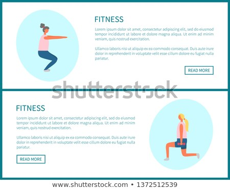 Girl Pumping Muscles, Sporty Woman Online Vector Stock photo © robuart