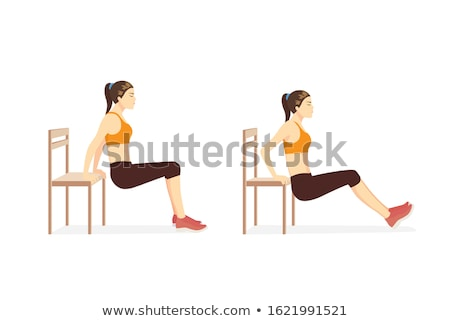 Triceps entraînement belle s'adapter femme exercice Photo stock © Jasminko