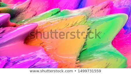 Vibrante 3D líquido fluido cores abstrato Foto stock © SArts