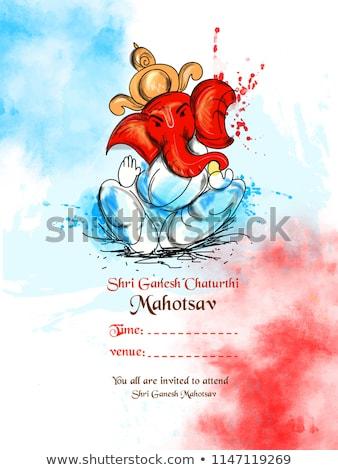 creative lord ganesha design ganesh chaturthi background Stock photo © SArts