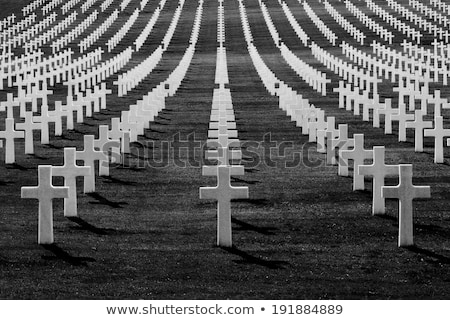 солдата кладбища крестов долго Тени Сток-фото © lichtmeister