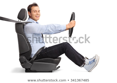 Happy Man Sitting In Car Looking Out Stock photo © AndreyPopov