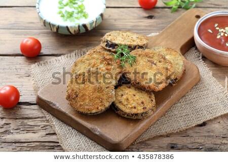Frito verde branco cozinhar comer fresco Foto stock © tycoon