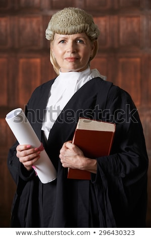 Portrait Of Lawyer In Court Holding Brief And Book Stock photo © HighwayStarz