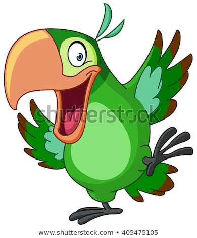 Colored parrot ,cartoon bird design Stock photo © nezezon