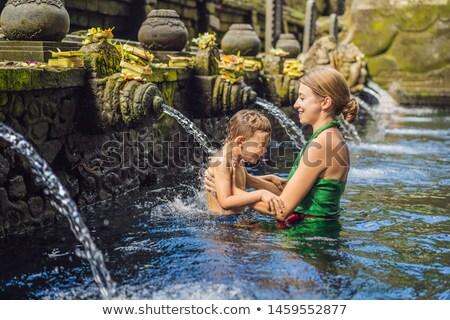 Anya fiú szent tavasz víz templom Stock fotó © galitskaya