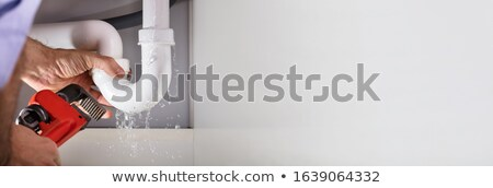 Plumber Repairing Pipe Leakage Stock photo © AndreyPopov
