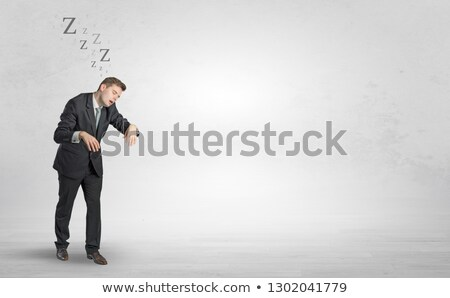 Businessman with sleeping sickness going somewhere Stock photo © ra2studio