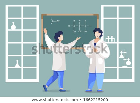 Man Analyzing Substance Properties, Chemistry Stock photo © robuart