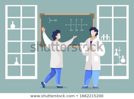 Férfi lényeg kémia lecke műhely tudós Stock fotó © robuart