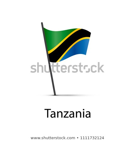 Tanzania vlag paal element witte Stockfoto © evgeny89
