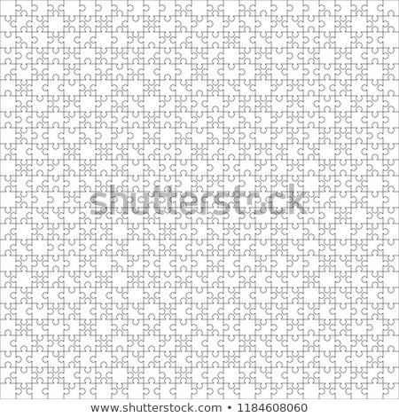 625 white puzzles pieces arranged in a square. Jigsaw Puzzle template ready for print. Cutting guide Stock photo © evgeny89