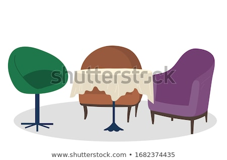 Armchairs and Table with Tablecloth in Coffeehouse Stock photo © robuart