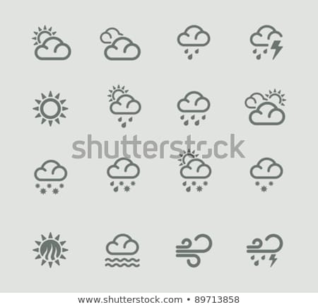 Cloudy day. Icon. Weather glyph vector illustration Stock photo © Imaagio