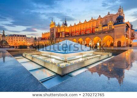 Krakkó ruha előcsarnok Lengyelország fő- tér Stock fotó © borisb17