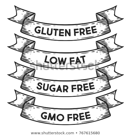 完全菜食主義者の 食品 ヴィンテージ リボン 文字 黒白 ストックフォト © FoxysGraphic