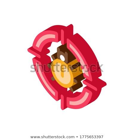 ошибка целевой изометрический икона вектора знак Сток-фото © pikepicture