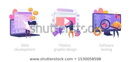 Számítógép vektor metafora css html programozás Stock fotó © RAStudio