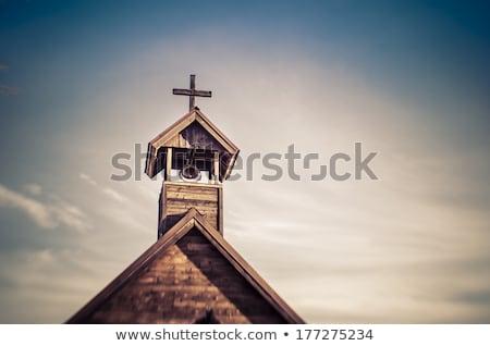 wood church tower stock photo © bobkeenan