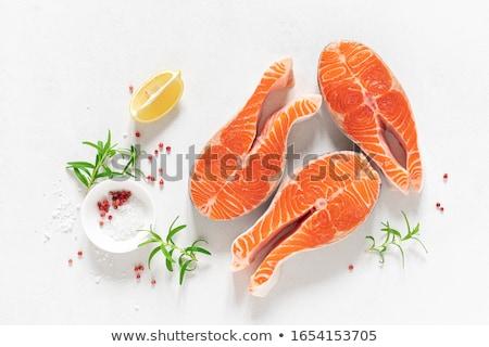 Przygotowany ryb naczyń restauracji obiedzie mięsa Zdjęcia stock © konturvid