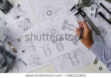 создание · подробность · механический · реализация · стороны · жизни - Сток-фото © artida