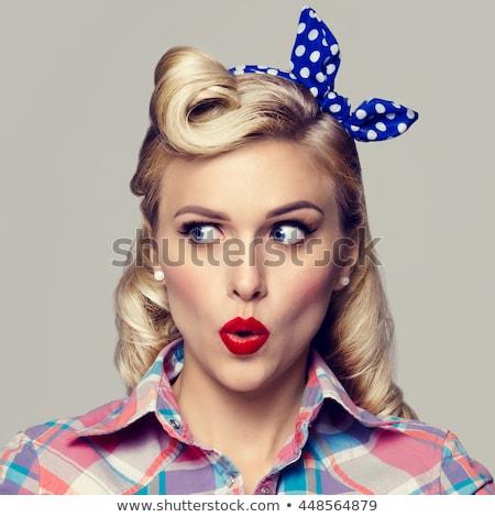 Pin Up Style Girl in Studio Stock photo © tobkatrina