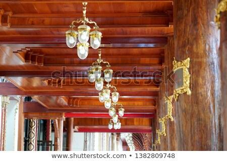 старые антикварная люстра потолок храма Сток-фото © pzaxe