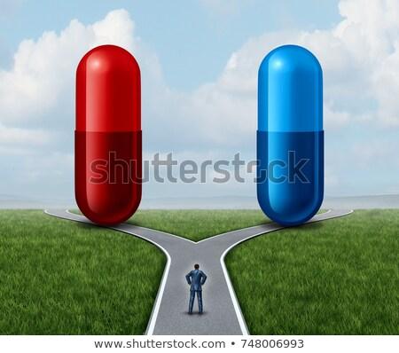 Red Pill Cross Stock photo © creisinger
