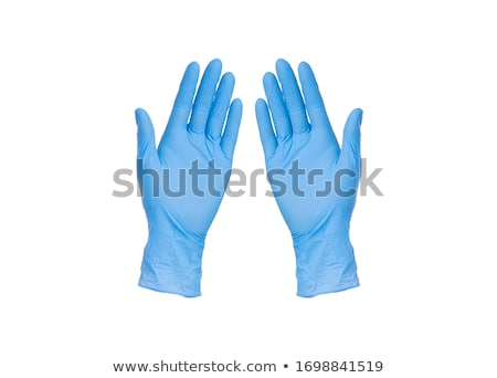 latex · kesztyű · orvos · visel · kéz · pálma - stock fotó © devon