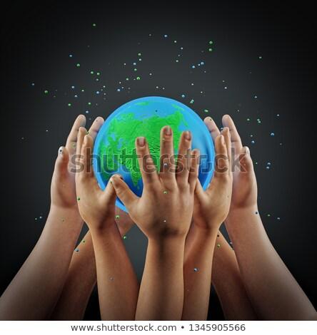 Hand holding a Help 3D Sphere Stock photo © kbuntu