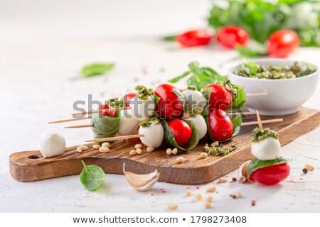 mozzarella skewers stock photo © joker