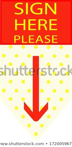 Felirat itt üzlet kép posta munka Stock fotó © kitch