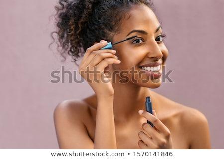 Donna mascara panorama capelli bellezza Foto d'archivio © photography33