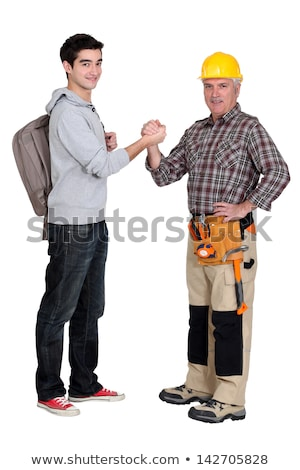 Carpenter welcoming his trainee Stock photo © photography33