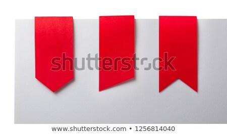 groene · geïsoleerd · witte · prijs · tag · papier - stockfoto © melpomene