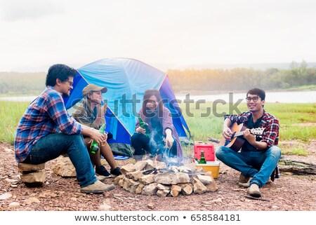 Man enjoying camping trip Stock photo © photography33