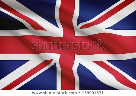 brit · zászló · fúj · szél · feliratok · Európa · vidék - stock fotó © garethweeks