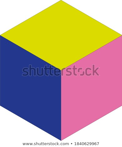 3d tricolor cube isolated on the white stock photo © maxpro